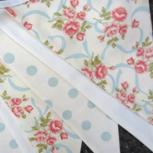 Close-up of fabrics in Sweet Dot Bunting from Zigzag