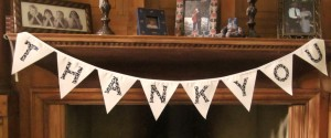 Personalised bunting from Zigzag